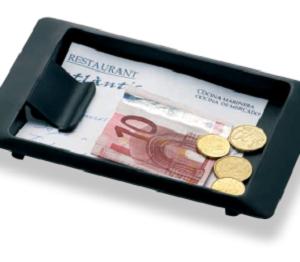Bandeja de cambio rectangular con clip